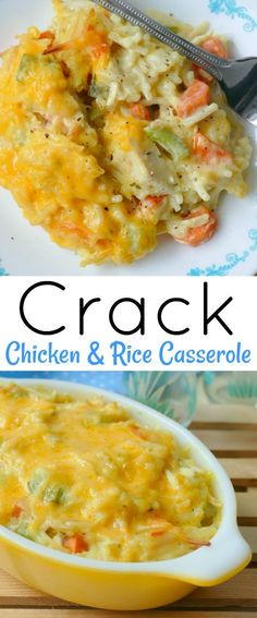Crack Chicken and Rice Casserole - food delicious ideas