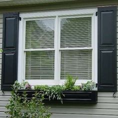 Exterior paint with black shutters Raised Panel Shutters, Louvered Shutters, House Shutters, Black Shutters, Vinyl Shutters, Exterior House Colors, Exterior Paint, Exterior Design, Interior And Exterior