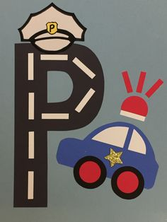 P is for Police Letter P Crafts, Abc Crafts, Alphabet Crafts, Police Activities, Toddler Learning Activities, Preschool Activities, Police Officer Crafts, Police Crafts, Preschool Puzzles