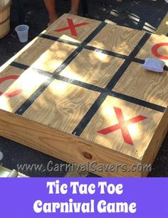 DIY Tic Tac Toe Carnival Game - See how to make this game great for kids - adults too!