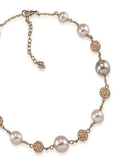 Carolee Blush Pink Illusion Pearl and Crystal Necklace, The Bay... would need to do silver though