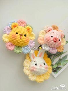 Crochet Case, Crochet Pig, Kawaii Crochet, Love Crochet, Diy Crochet, Crochet Dolls, Crochet Animal Patterns, Amigurumi Patterns, Amigurumi Doll