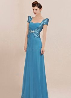 turquoise short sleeve sweetheart a-line floor length beaded sequin bodice deep v-back formal dress Bridal Dresses, Prom Dresses, Formal Dresses, Dresses 2013, Filipiniana Dress, Filipiniana Wedding, Prom Dress 2013, Blue Evening Dresses, Mothers Dresses