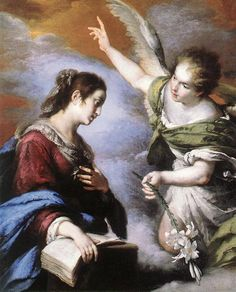 The Annunciation -  Bernardo Strozzi, 1643-1644,  oil on canvas, 120 x 145 cm, Museum of Fine Arts, Budapest, Hungary (646×800)
