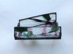 Stained Glass Business Card Holder Card Holder by LaGlasSea