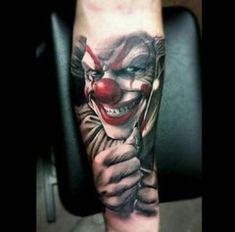 tatuajes de caras de payasos realistas