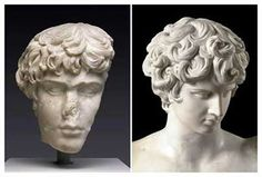 Antinoo, le amante de le emperator Adriano, recupere su visage