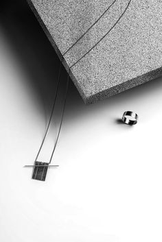 Knobbly Studio Grid+Lever necklace and Perforated ring | Still life by Aya Wind