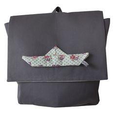 origami petit bateau bookbag