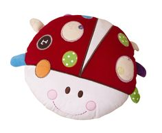 Baby Ladybird ABC Activity Cushion by Clair de Lune | A great gift for babies!