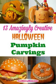 I can't carve a pumpkin to save my life!  These people are so creative!!!