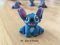 Figurine de Stitch en Fondant, Pâte à sucre