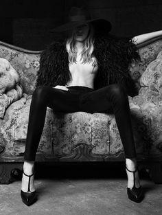 Julia Nobis by Hedi Slimane for Saint Laurent Paris ss 2013