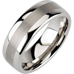 Ring Size 10 Security Jewelers Tungsten 6.3mm Flat Band with Black Enamel Inlay Size 10
