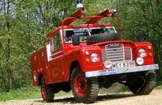 Beautifully restored Land Rover Fire Engine