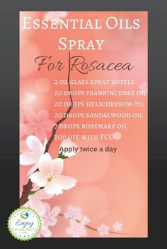 spray made with frankincense, helichrysum, sandalwood and rosemary oils will help treat your rosacea naturally. Essential Oils For Rosacea, Essential Oil Spray, Best Essential Oils, Essential Oil Blends, Natural Remedies For Rosacea, Rosacea Remedies, Shampoo Diy, Helichrysum Oil, Doterra Essential Oils