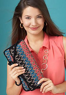 Inspired by Florentine Bargello needlework, this chic purse shines with any outfit. (Patons Yarns)