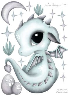 Dex the Dragon Fabric Wall Decals – Isla Dream Prints Kawaii Dragon, Baby Dragon Tattoos, Cute Dragon Tattoo, Cute Dragon Drawing, Easy Dragon Drawings, Unicorn Drawing, Animal Drawings, Art Drawings, Cute Dragons