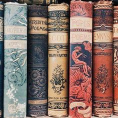 At Pretty Page Turner our favorite cover models are books. We can't get enough beautiful book photography of old books and their vintage bookshelf. Old Books, Antique Books, Dark Books, Antique Art, Hogwarts, Illustration Art Nouveau, Landscape Illustration, Book Spine, Vintage Book Covers
