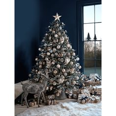 Blue Mountain Spruce Christmas Tree ❤ liked on Polyvore featuring home, home decor, holiday decorations, backgrounds, branch centerpieces, blue home accessories, christmas tree centerpieces, blue centerpieces and blue home decor