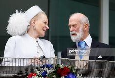 Princess Michael of Kent and Prince Michael of Kent watch the racing from the balcony of the Royal Box as they attend Derby Day during the Investec Derby Festival at Epsom Racecourse on June 2016 in Epsom, England. (Photo by Max Mumby/Indigo/Getty Images) Prince Michael Of Kent, Epsom Derby, English Royal Family, Derby Day, Prince And Princess, Queen Elizabeth Ii, British Royals, Balcony