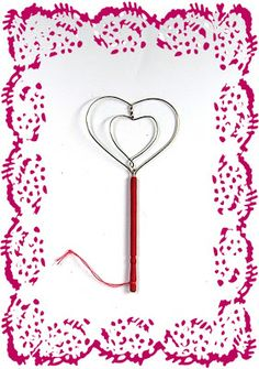 heart shape rug beater from 26 gauge wire & fancy toothpick