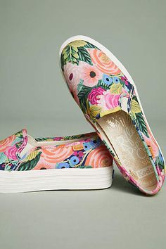 The enchanting designs from Rifle Paper Co. adorn these classic Keds  styles ca2baf160