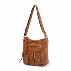 Faux Leather Crossbody Bag with Front Studded Pockets | Claire's