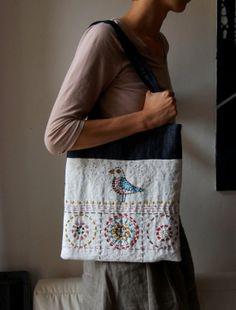 hand-embroidered bag