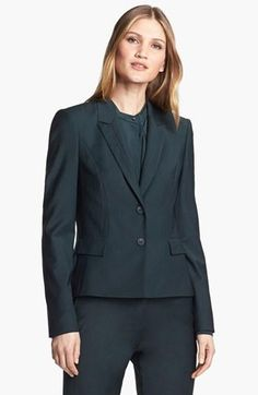 A dark green suit is just as professional, versatile & slimming as a black suit - and so much more interesting! @Commandress