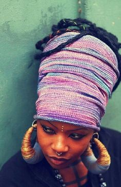 Winter protective style.