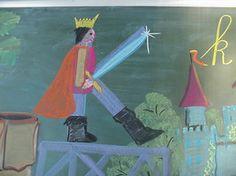 Waldorf ~ 1st grade ~ Letter: K ~ King