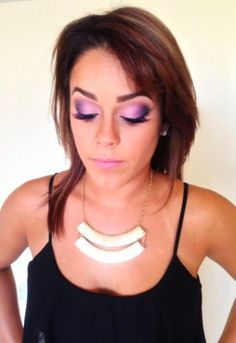 Purple Eye Shadow, purple Smokey eye #letsmakeupbycorrin