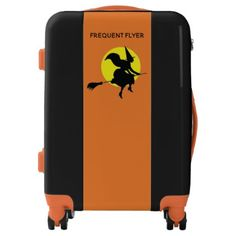 Flyer Witch Halloween Custom Text Luggage - All Hallows' Eve All Saints' Eve & Custom Luggage, Luggage Suitcase, Suitcases, Party Stuff, Hallows Eve, Halloween Party, Saints, Witch, Trunks