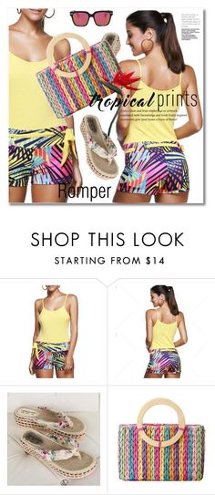 Untitled #1395 by svijetlana on Polyvore featuring moda, romper, tropicalprints, polyvoreeditorial and twinkledeals