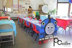 Cute idea to make the tables a train!
