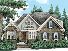 Eplans French Country House Plan - European Country Cottage Warmth - 2508 Square Feet and 4 Bedrooms from Eplans - House Plan Code HWEPL14768
