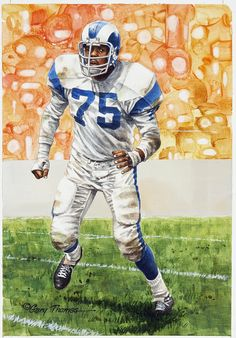 Deacon Jones artwork by Gary Thomas.