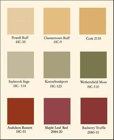 Some great color ideas for an autumn update! #DonSmithPaint