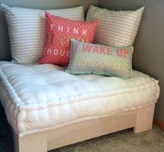 7 Comfy DIY Giant Floor Pillows | Giant floor pillows, Floor pillows ...