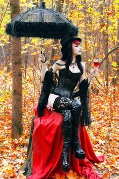Burvogue Women's Lace Asymmetrical High Low Steampunk Corset Skirt Moda Steampunk, Gothic Steampunk, Steampunk Fashion, Victorian Gothic, Victorian Dresses, Steampunk Clothing, Gothic Art, Gothic Mode, Gothic Lolita