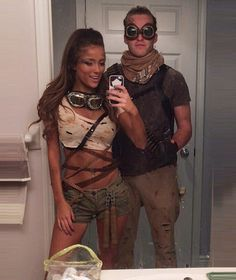 Couples Halloween Costumes to make you both look like the Superstars of the party - Hike n Dip - - Thinking about fresh Halloween costumes for couples? Why not check out some really cool Couples Halloween Costumes right here. I bet you'll love them. Halloween Costumes Glasses, Costumes With Glasses, Mad Max Costume, Halloween Costumes To Make, Hallowen Costume, Halloween Inspo, Halloween 2019, Halloween Couples, Diy Halloween