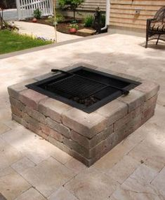 square-firepit-chapin-vineyard-patio Our Cape Cod Fire Pits have been a best seller every year! This square fire pit is available in three colors, cooking grate optional - easy assembly. Outside Fire Pits, Cool Fire Pits, Diy Fire Pit, Fire Pit Backyard, Fire Pit Kits, Stone Fire Pits, Outdoor Fire Pits, Rustic Fire Pits, Patio Pergola