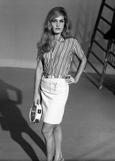 Dalida, Famous French, She Song, Superstar, Beautiful People, Style Me, Stripes, Actresses, Black And White