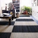 Buy Laid Back Groove-Black carpet tile by FLOR  I like it but hate the price, $28 per tile!  no way!