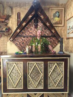 Trader Nick serving up 2 double Tiki Tiki, Tiki Hut, Tiki Bar Decor, Tiki Lounge, Tiki Bars, Tiki Room, Backyard, Patio, Tropical Decor