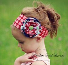 Lillian Headband PDF Pattern Tutorial, 3 versions (6 options), 4 sizes-baby to adult
