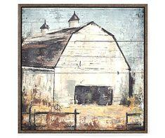 Rustic Barn Canvas Wall Art, x at Big Lots. Farmhouse Artwork, Farmhouse Paintings, Farmhouse Decor, Barn Paintings, Country Farmhouse, Country Life, Country Decor, Framed Wall Art, Wall Art Decor
