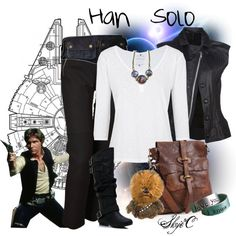 """""""Han Solo Inspired Outfit"""" by rubytyra on Polyvore"""