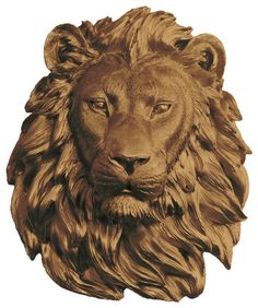 Wall Charmers Lion in Yellow | Faux Taxidermy Bust Resin Fake Animal Head Art modern-sculptures